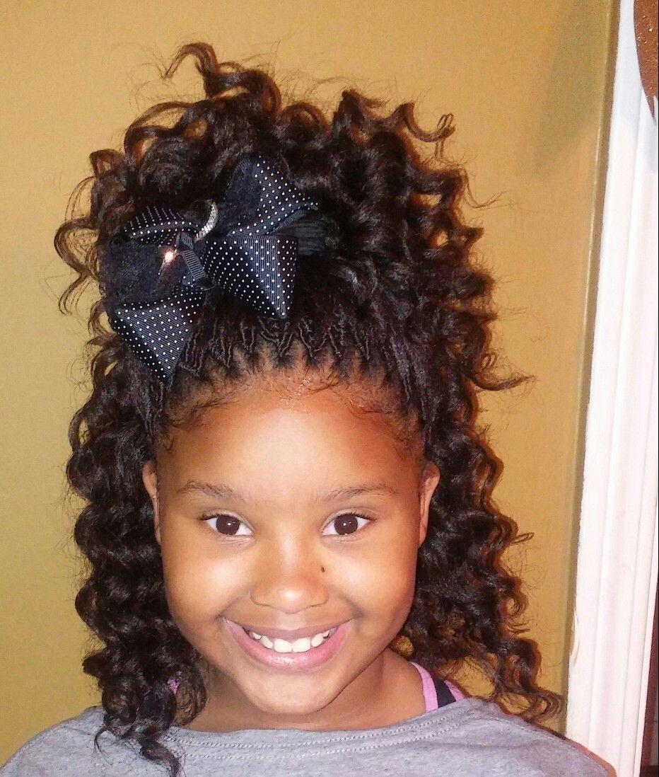 Kids Braided Hairstyles Lil Girl Natural Black Crochet Braids Box Kid Children