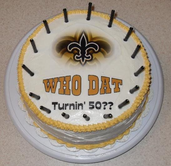 New Orleans Saints Birthday Cake Brandon Honey Do Shower