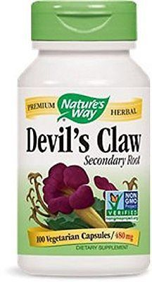 Nature's Way Devil's Claw Root, 480 mg, 100 Capsules
