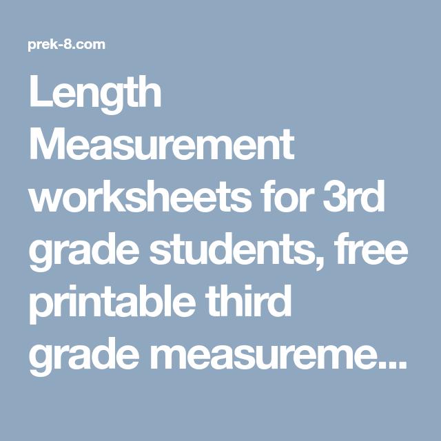 Length Measurement worksheets for 3rd grade students, free printable ...