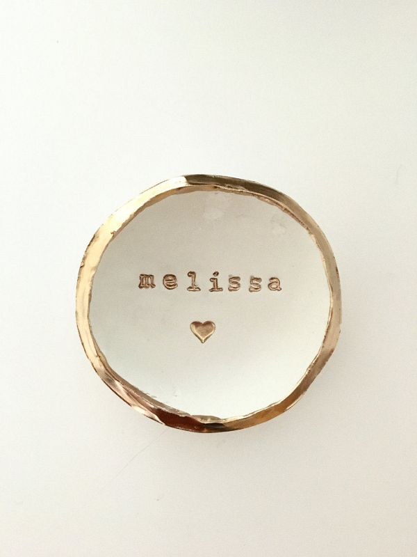 Bridesmaid Gift Ideas #ad Personalized Clay Ring Dish