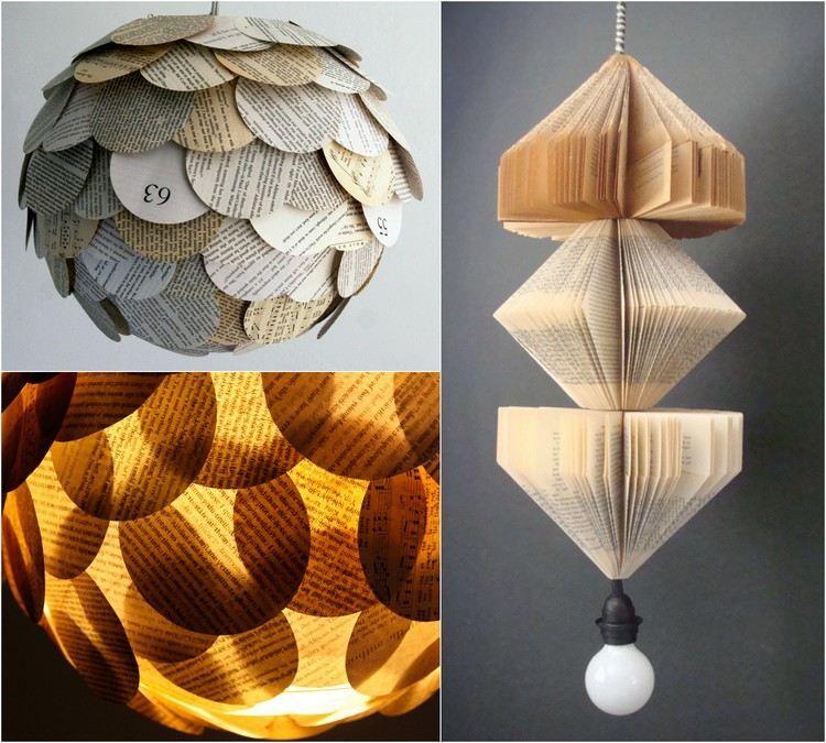 kronleuchter und lampenschirm aus buchseiten basteln pinterest recycling basteln. Black Bedroom Furniture Sets. Home Design Ideas