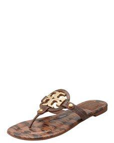 10c4ce6e7c35 Tory Burch Miller2 Snake-Print Thong Sandal