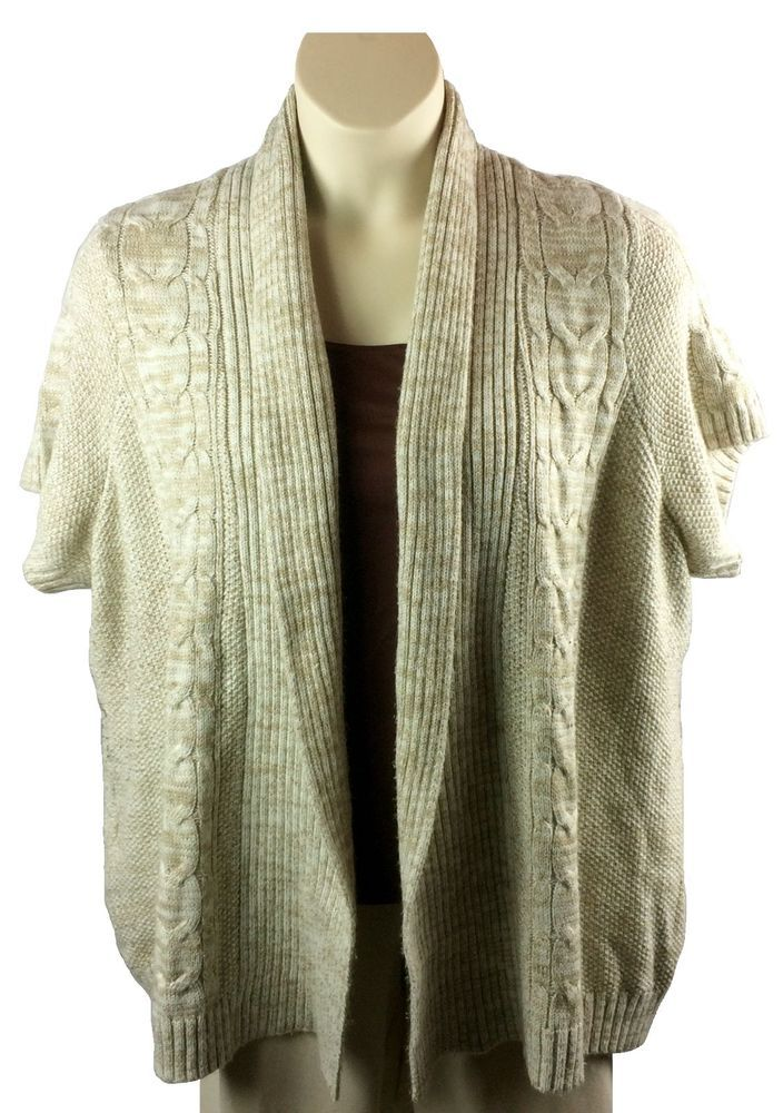 Womens Sonoma Open Front Cardigan Sweater Plus Size 2X Cable Knit ...