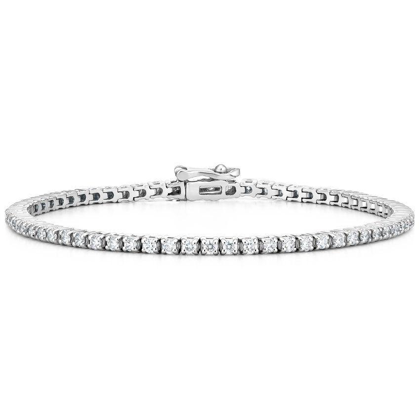 18k White Gold Diamond Tennis Bracelet 2 Ct Tw Diamond Bracelets Tennis Bracelet Diamond Silver Bracelet