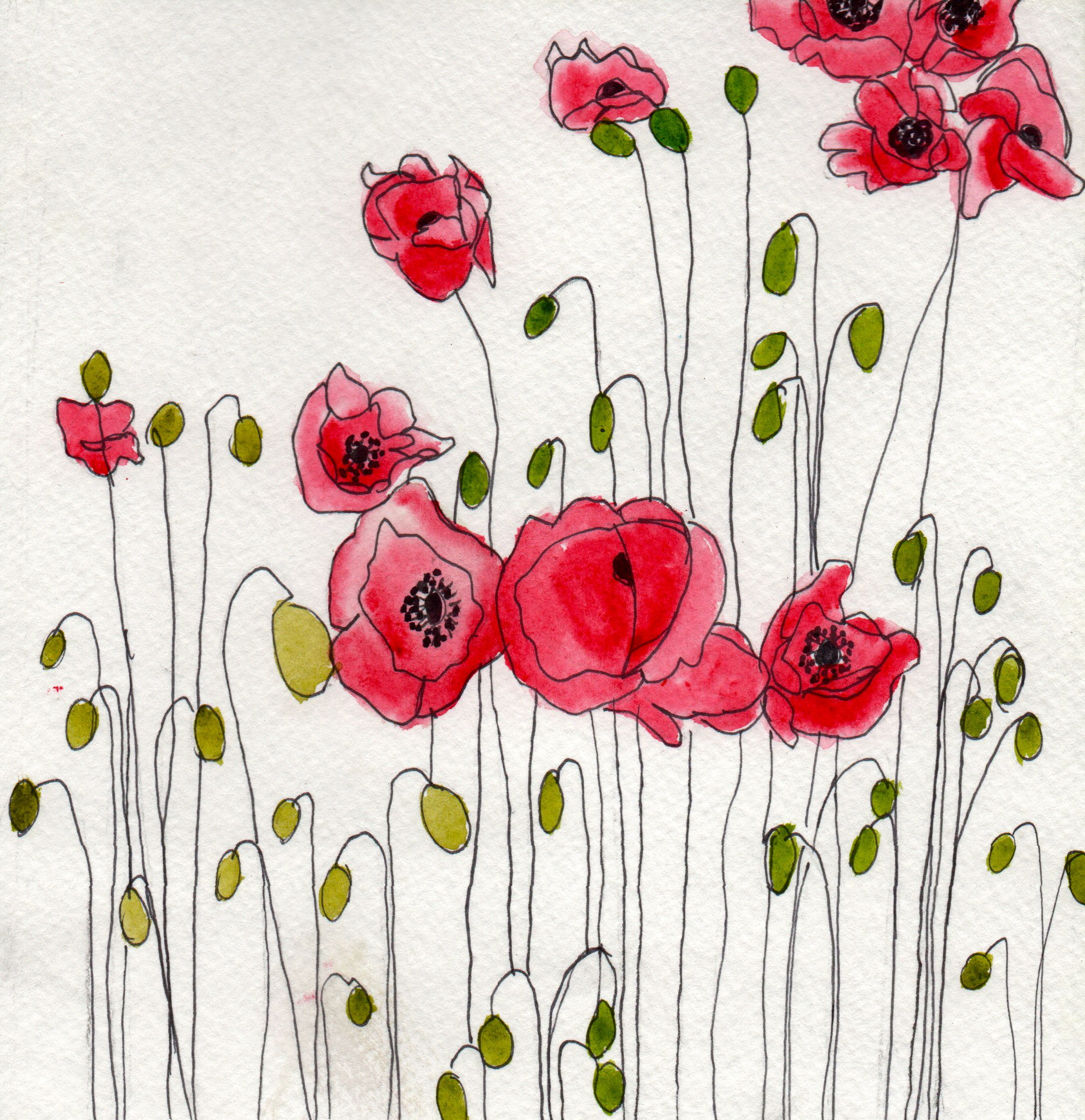 This Painting Would Look Great On My Studio Wall Aquarell Mohnblumen Blumen Kunst Mohnblumen Kunst
