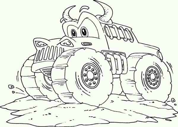 Taz Monster Truck Coloring Pages