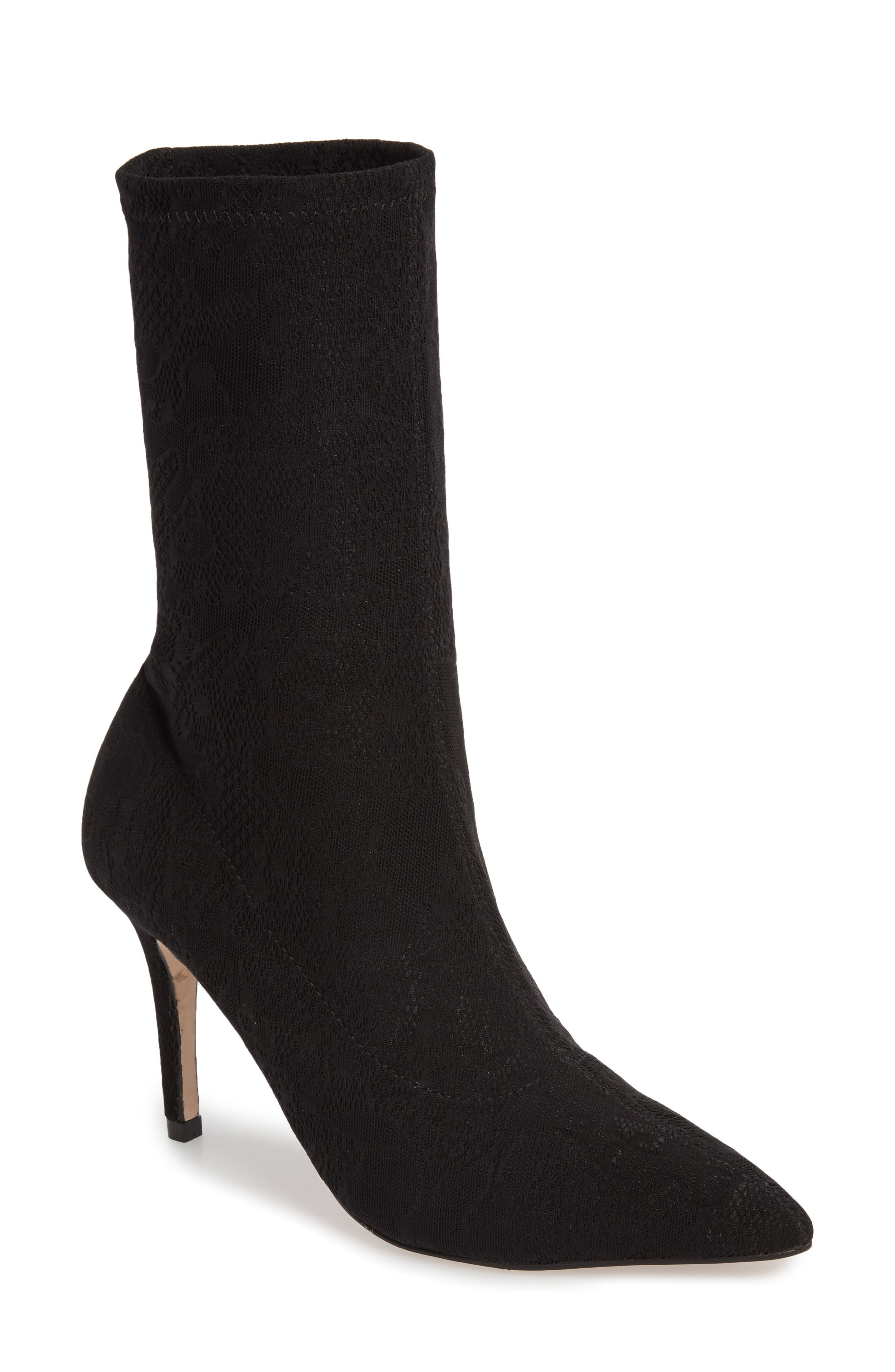 9726101cc50a Make a statement and dazzle admirers in this eye-catching sock bootie  crafted in a feminine