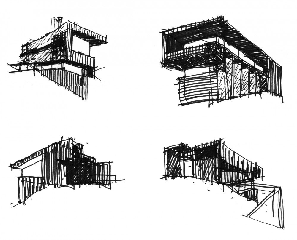 Architecture House Sketch red house / jva | red houses, sketches and architecture