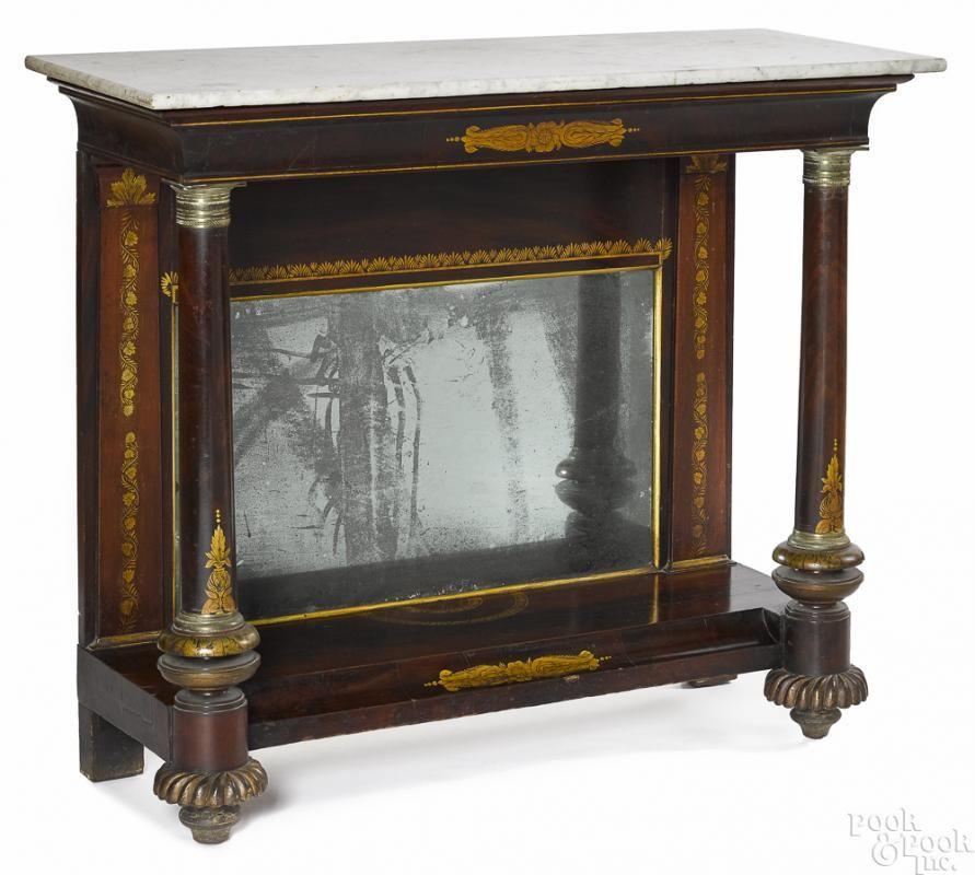 Philadelphia classical mahogany pier table - Price Estimate: $2000 - $4000 - Philadelphia Classical Mahogany Pier Table - Price Estimate: $2000