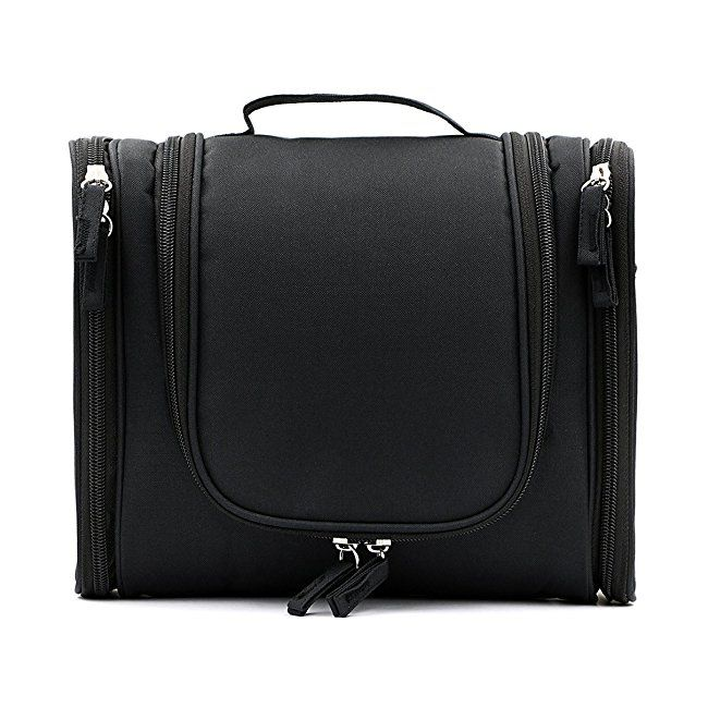 b9785e6c67e IGNPION Travel Toiletry Bags Organizer for Women Cosmetic Makeup or Men  Shaving Kit Washable  Amazon