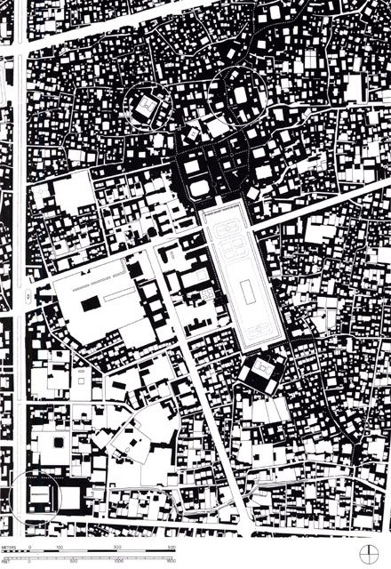 Site plan of the Maidan and surrounding public buildings, as they - copy blueprint denver land use and transportation plan