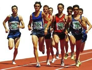 I love this photo. It shows all the variations of running postures. Compare how the runner on the right with the other on the extreme left. See how relaxed, yet upright he runs. His head is nicely poised, shoulders relaxed, and look how his raised foot is position for the next step. Such an important aspect of running that so many overlook. You can find out more at my website.