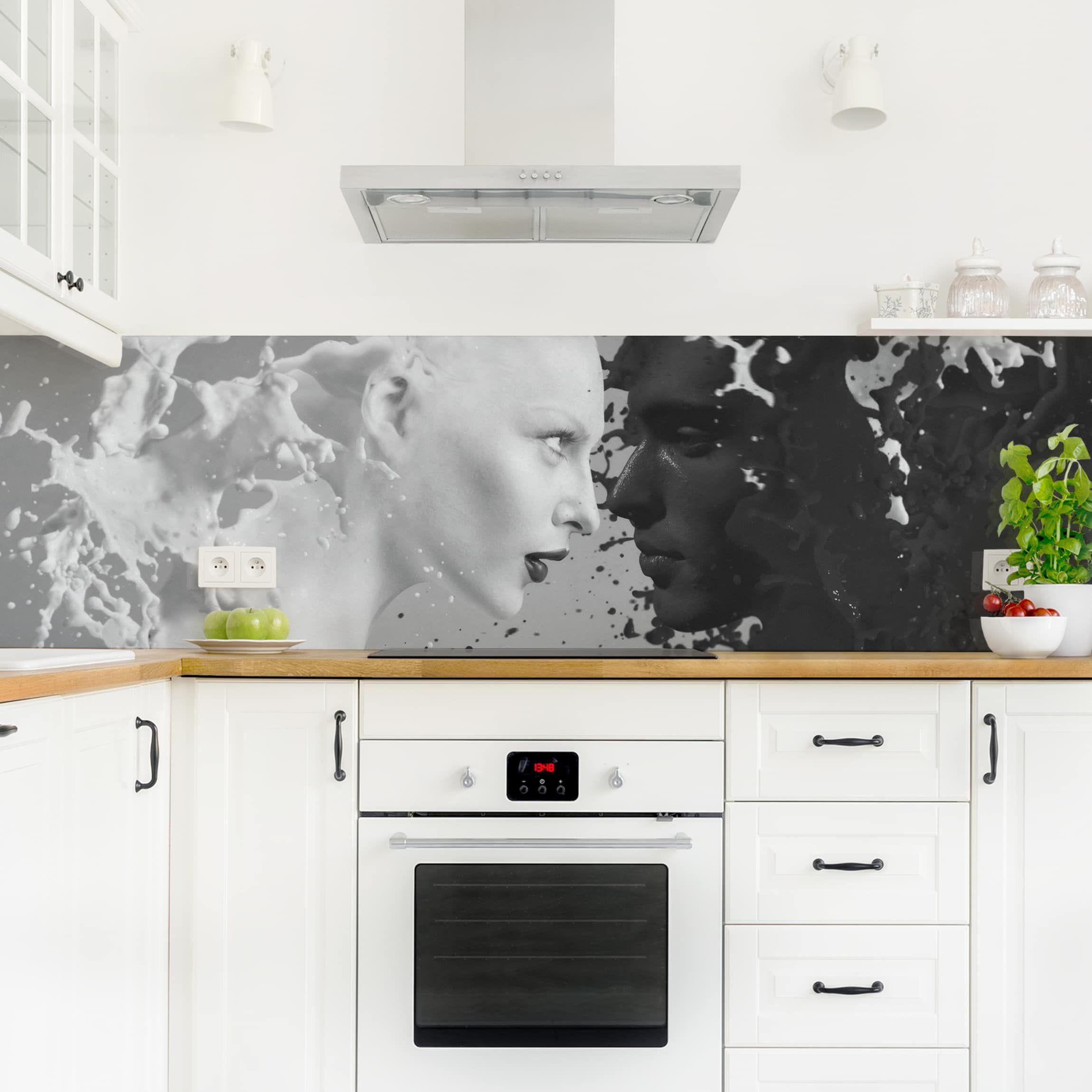 Küchenrückwand Milk Coffee Ii Küchenrückwandfolie Moderne Küche Haus Deko Küchen Rückwand