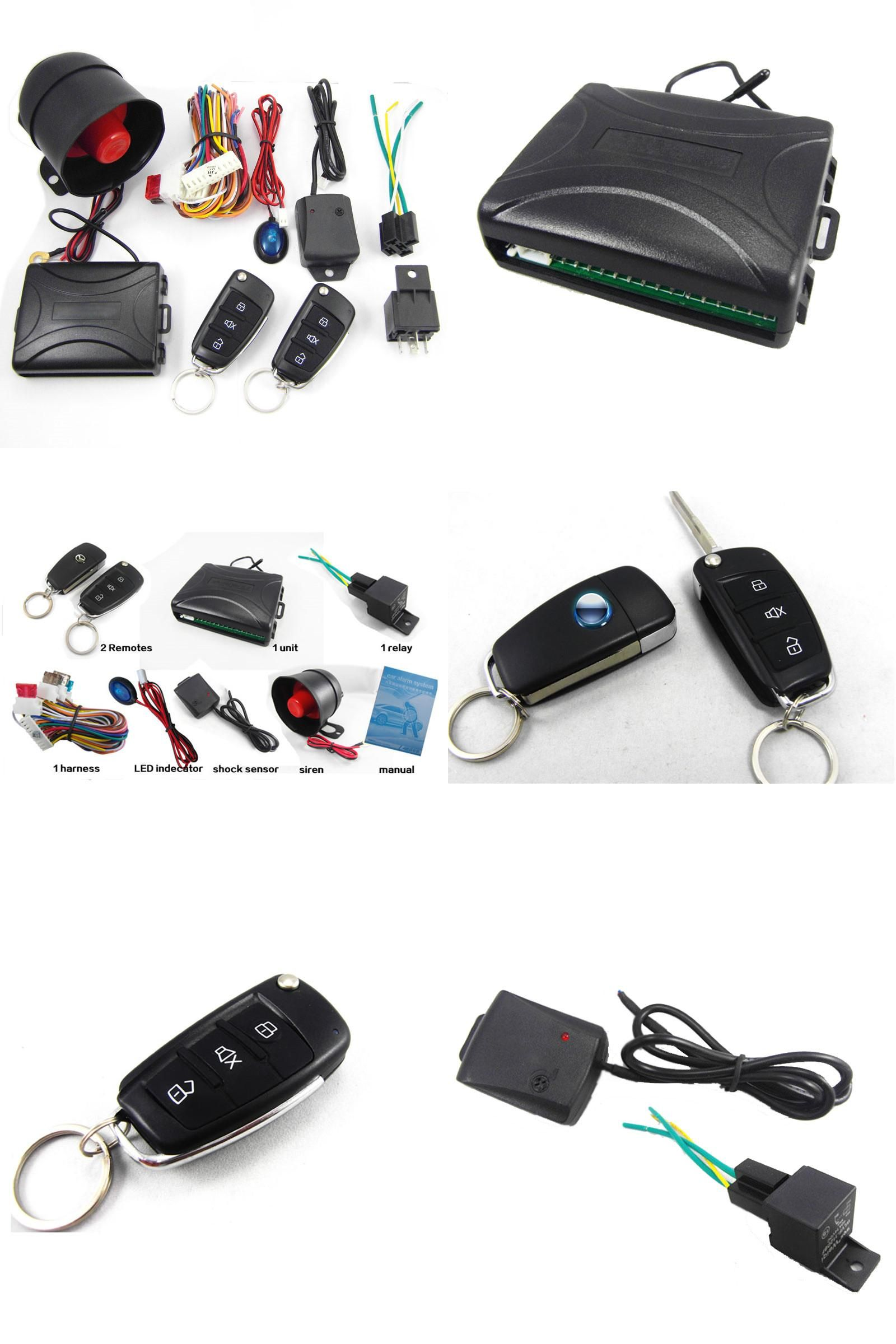 visit to buy] ca703-8118 one way remote control car alarm systems, Wiring diagram