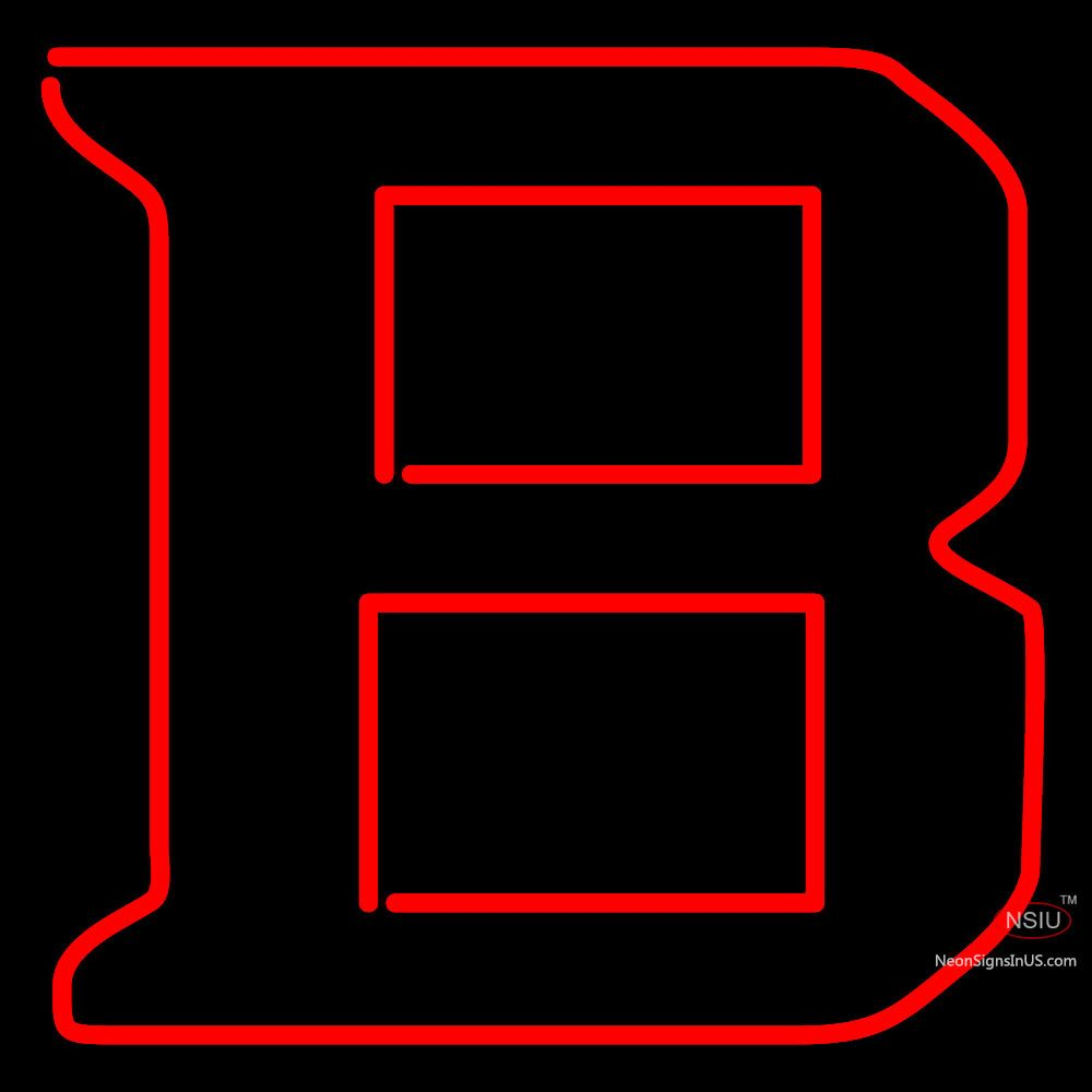 Bradley Braves Secondary Pres Logo Ncaa Real Neon Glass Tube Neon Sign Affordable And Durable Made In Usa If You Want To Get It Please Neon Signs Neon Logos