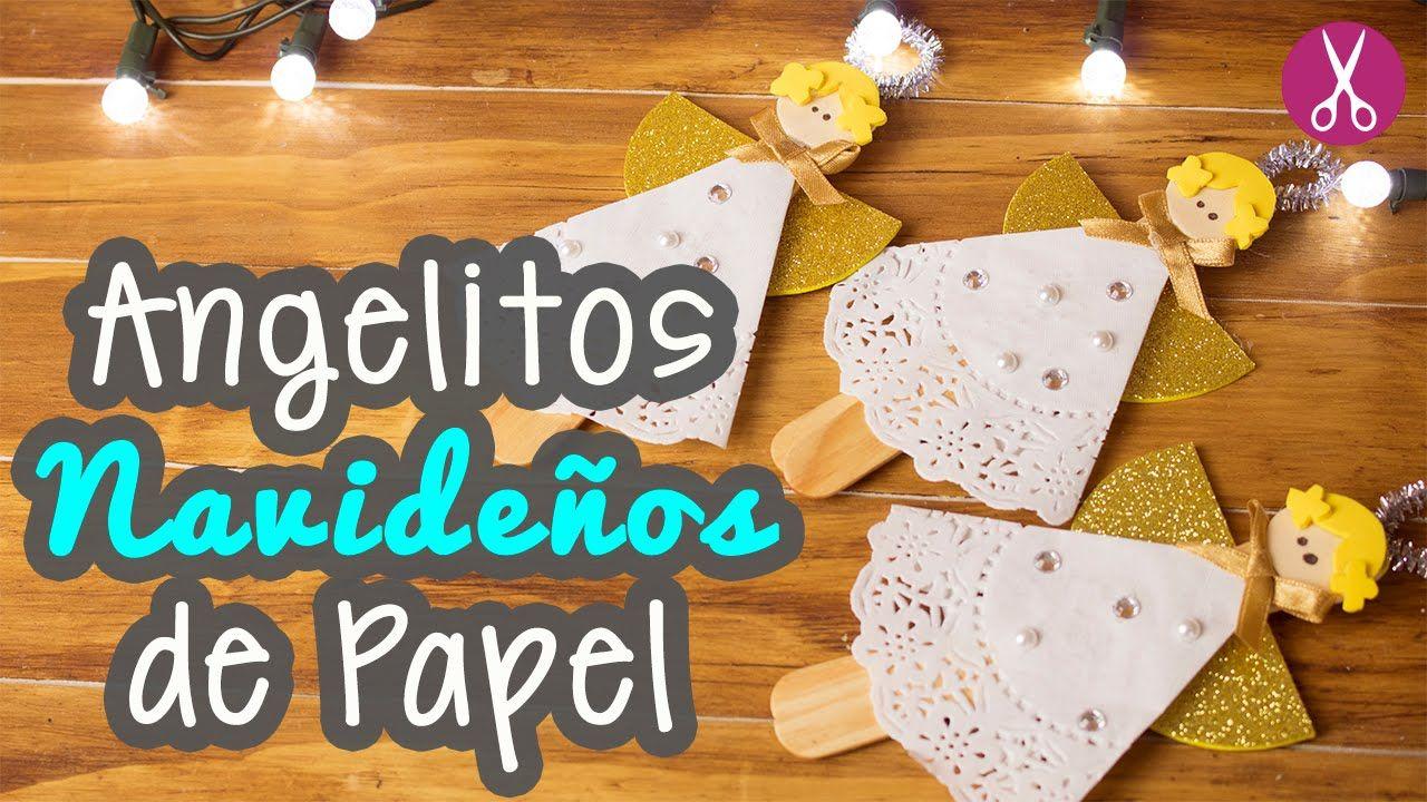 Manualidades navide as angelitos navide os de papel - Manualidades con papel navidenas ...