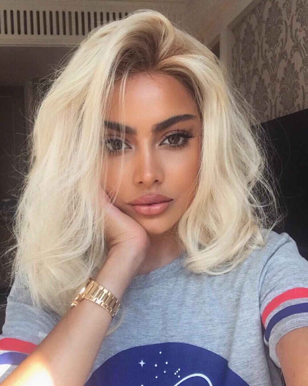 Pin By Jana Kostadinova On Makeup Looks Bleached Hair Bleach Blonde Hair Hair Styles