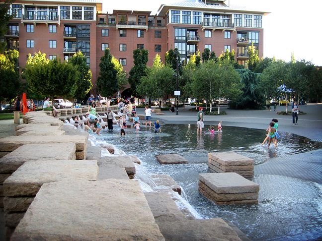 Jamison Square Water Architecture Landscape Model Landscape Design