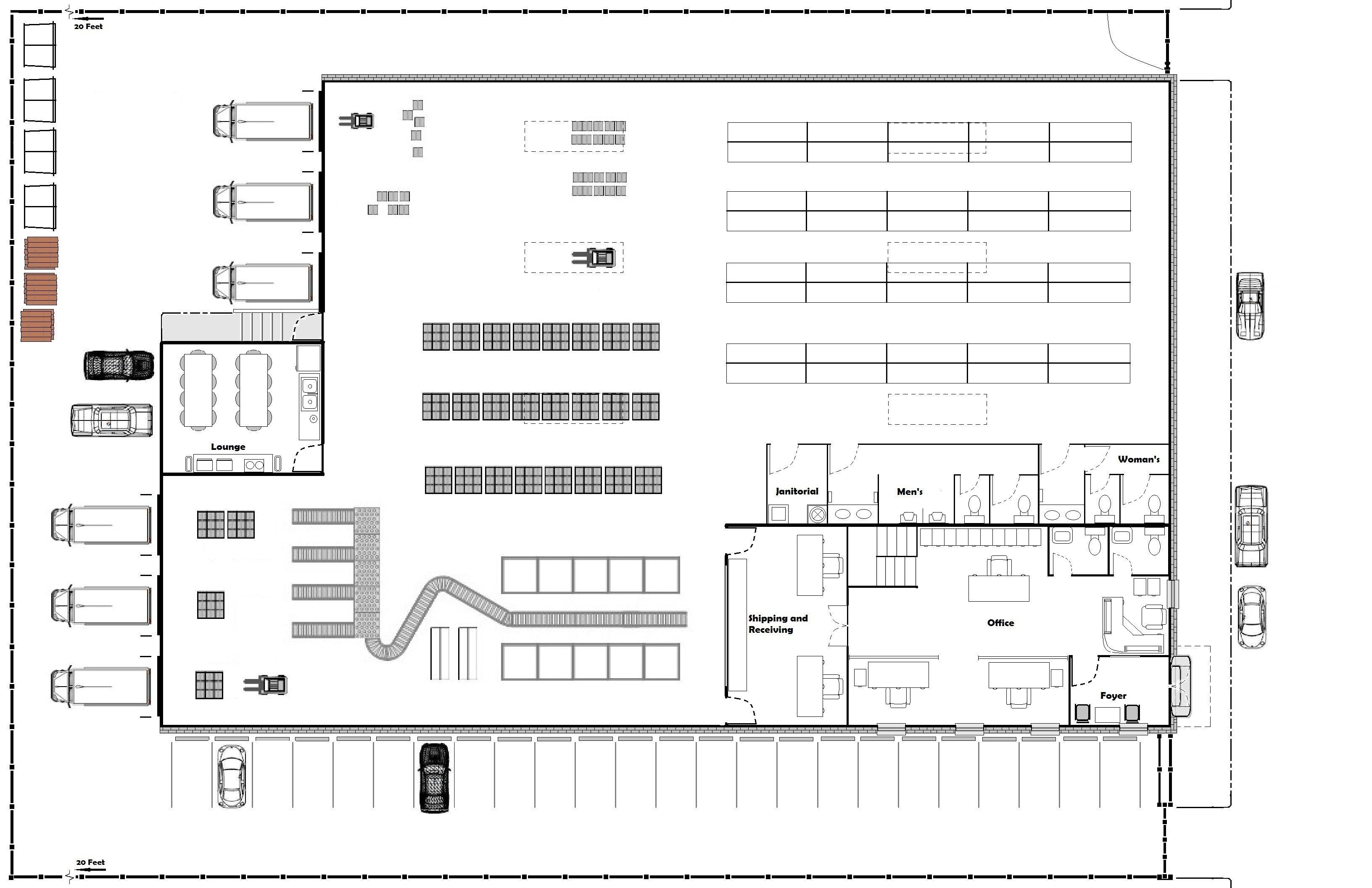 Floor Plan Of Warehouse