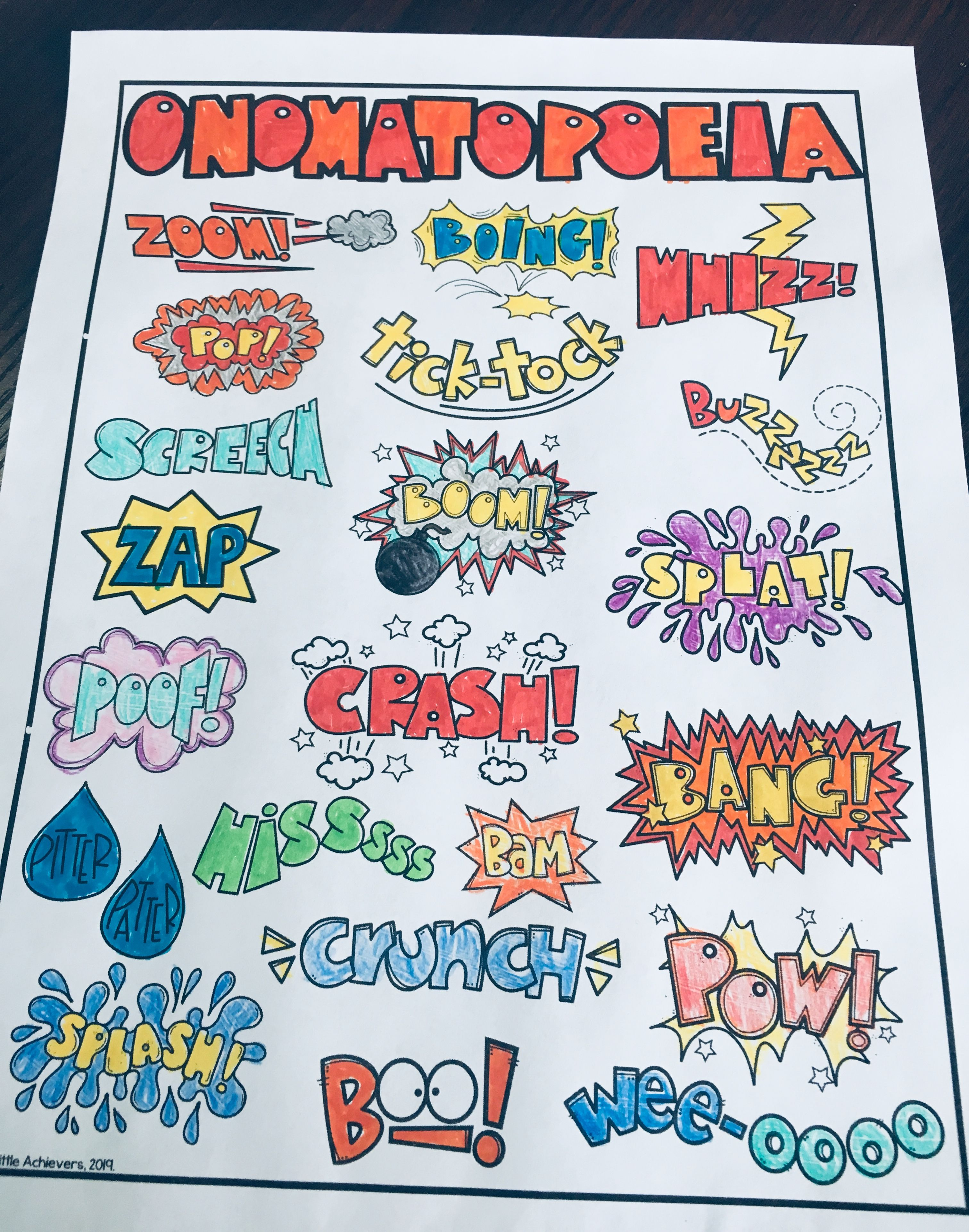 Onomatopoeia Words With Pictures