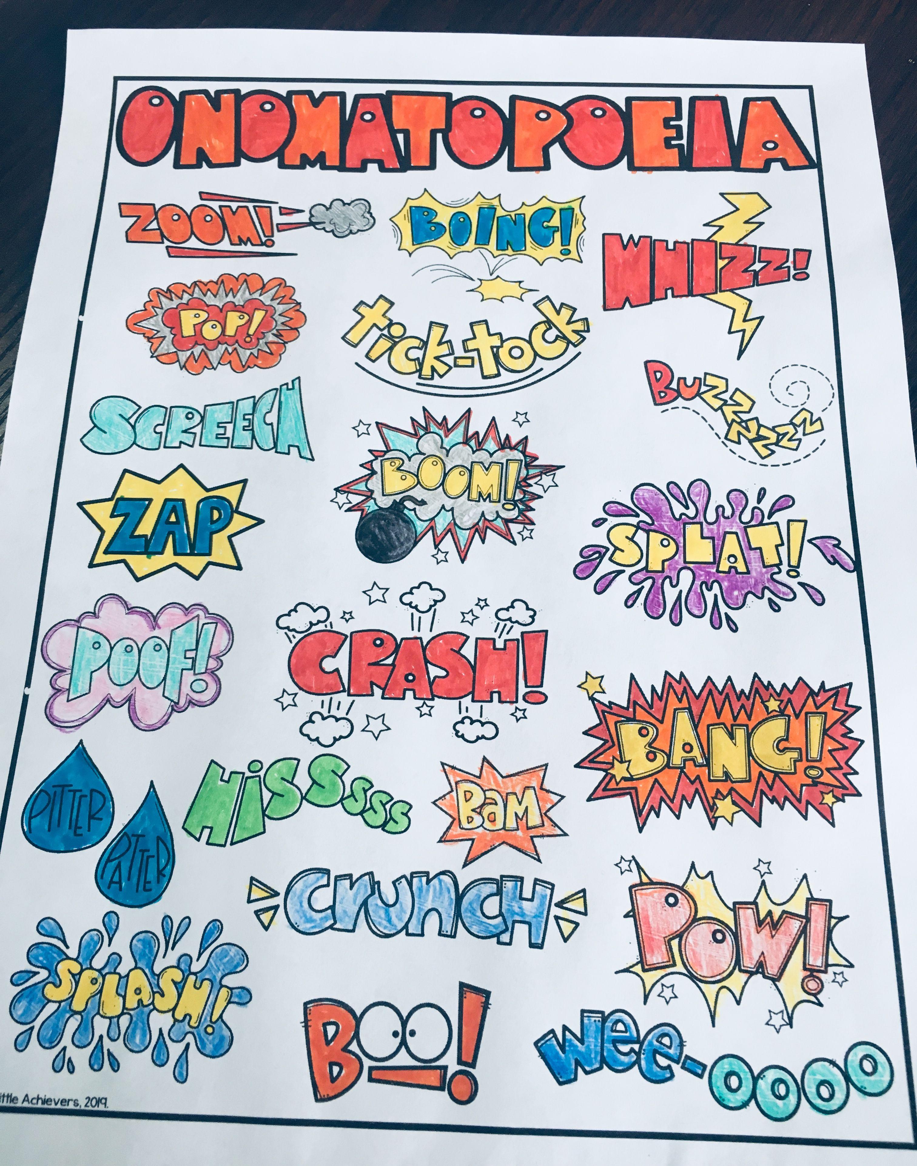 Onomatopoeia Words With Pictures