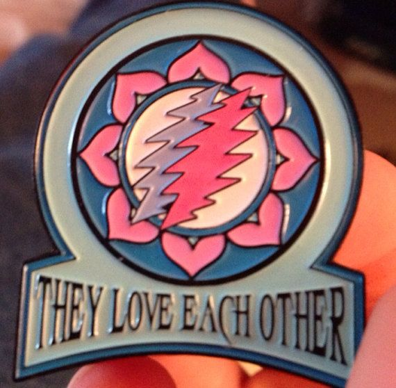 Lovelovelove 2 They Love Each Other Grateful Dead Hat Pin By