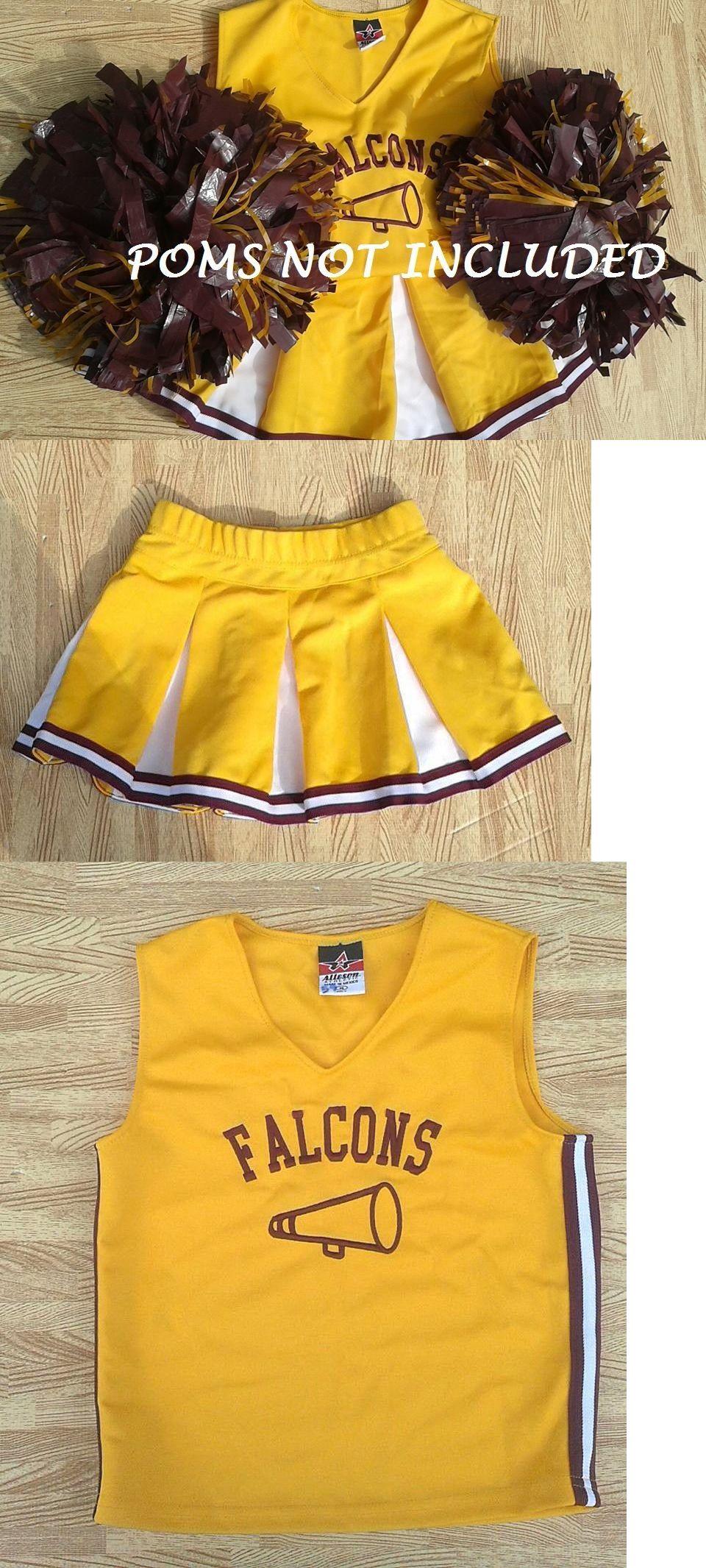 bd12177f8a3 Cheerleading 66832  Cute Girl L Real Gold Cheerleader Cheerleading Uniform  Top Skirt 24-28