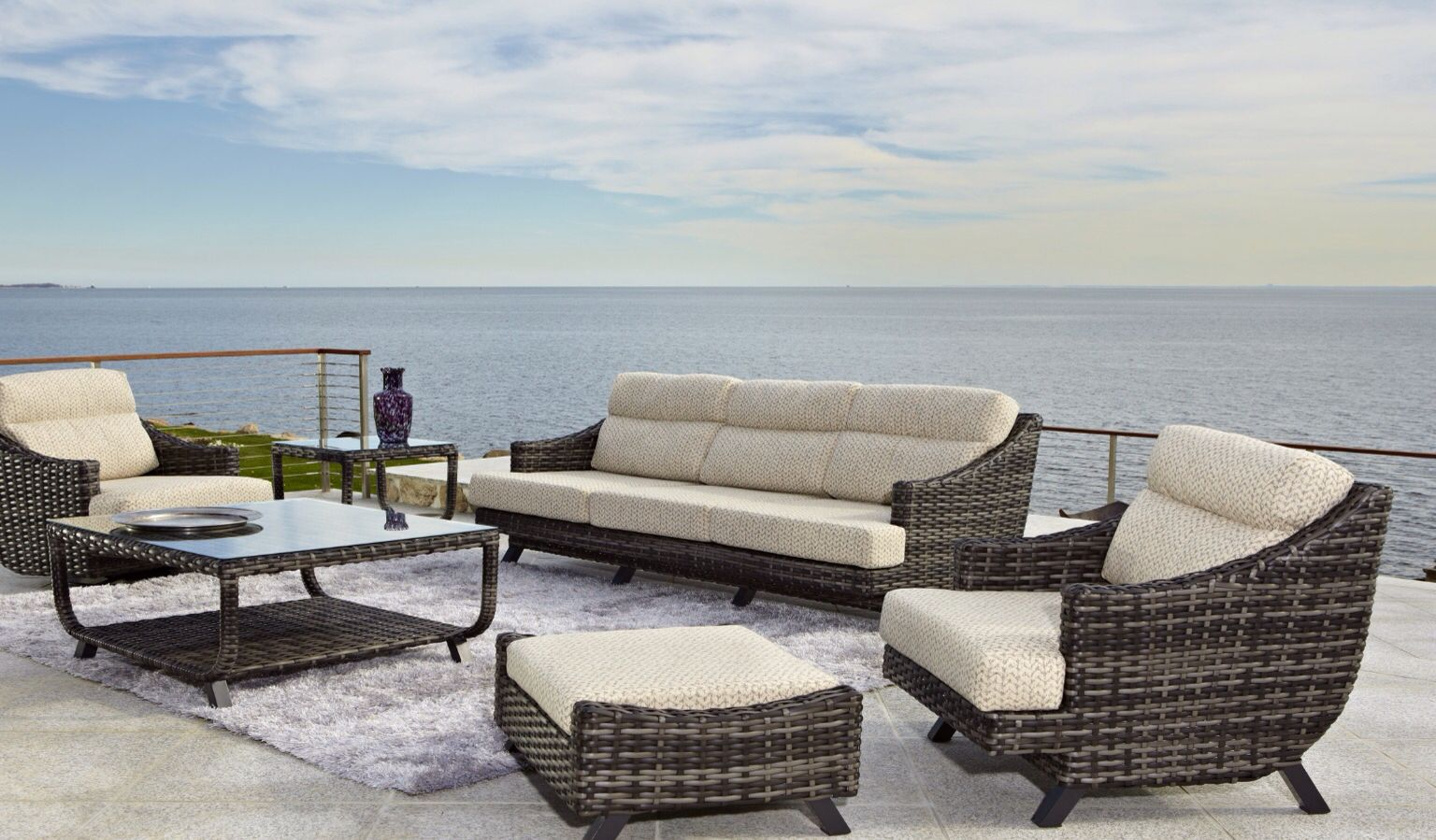 Indoor outdoor furniture is perfect for the sunroom or patio choose your fabric for your cushions from sunbrella fabric