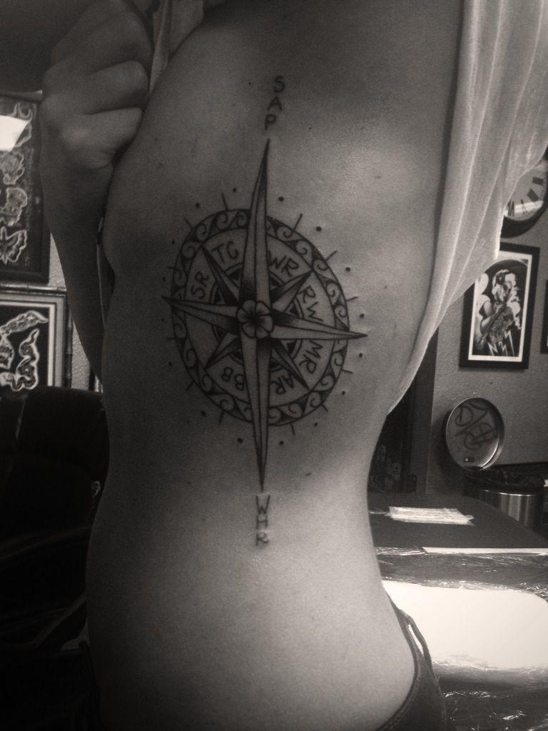 Family Compass New Tattoos Arm Band Tattoo Compass Tattoo