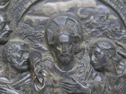 Antique 19th Century Last Supper High Relief Metal Sculpture Wall Art Yqz Https