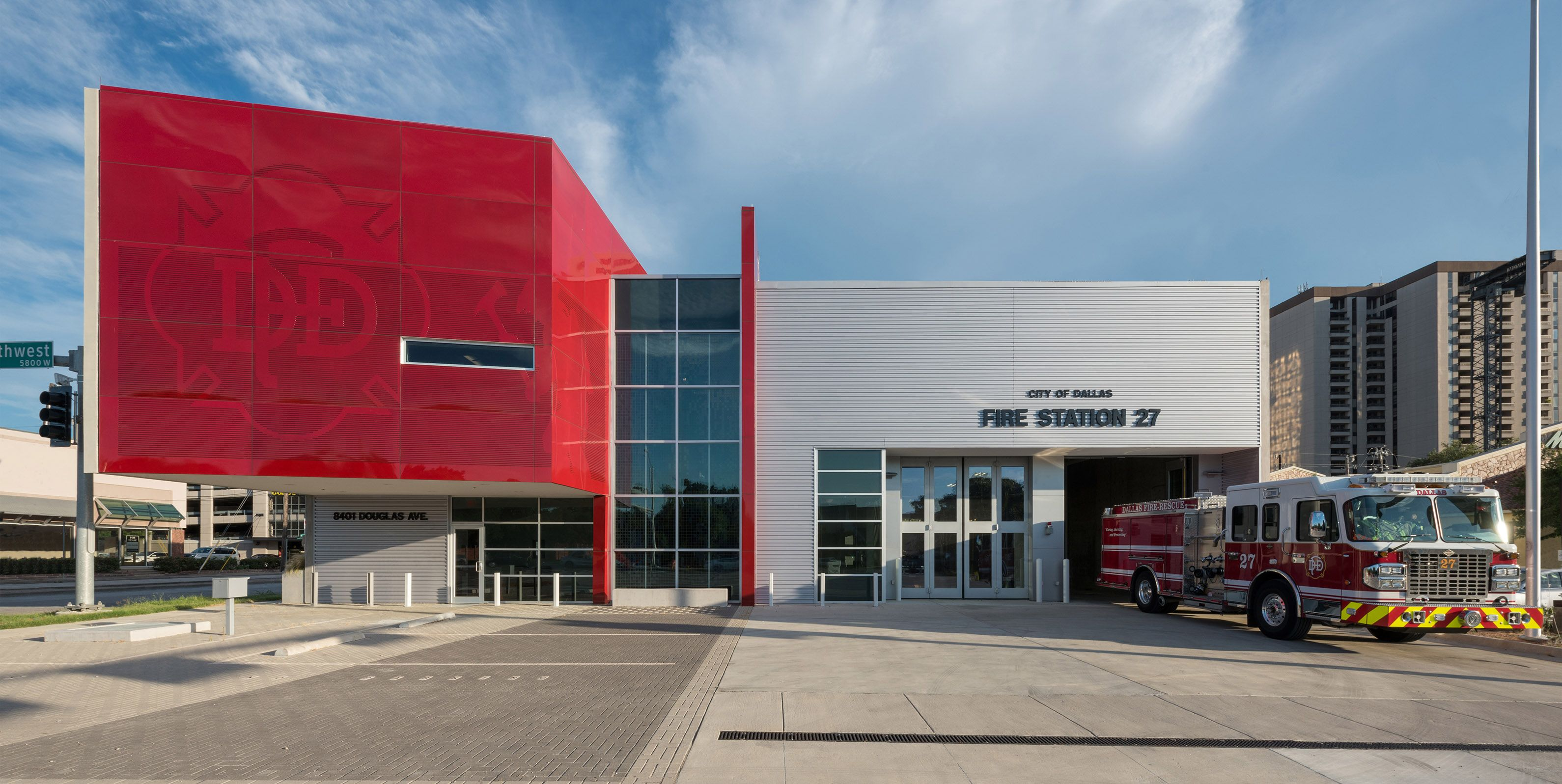 Dallas Fire Station 27, Perkins+Will. Firehouses Architecture Color Fire  Concrete