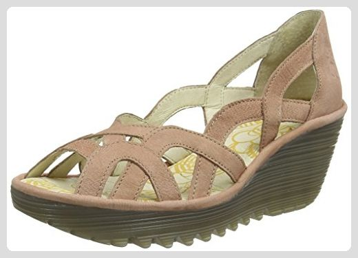 FLY London Damen Yadi718fly Keilabsatz Plateau Sandalen