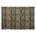 Bold gold black geometric tribal designer placemat - Great Gift Idea