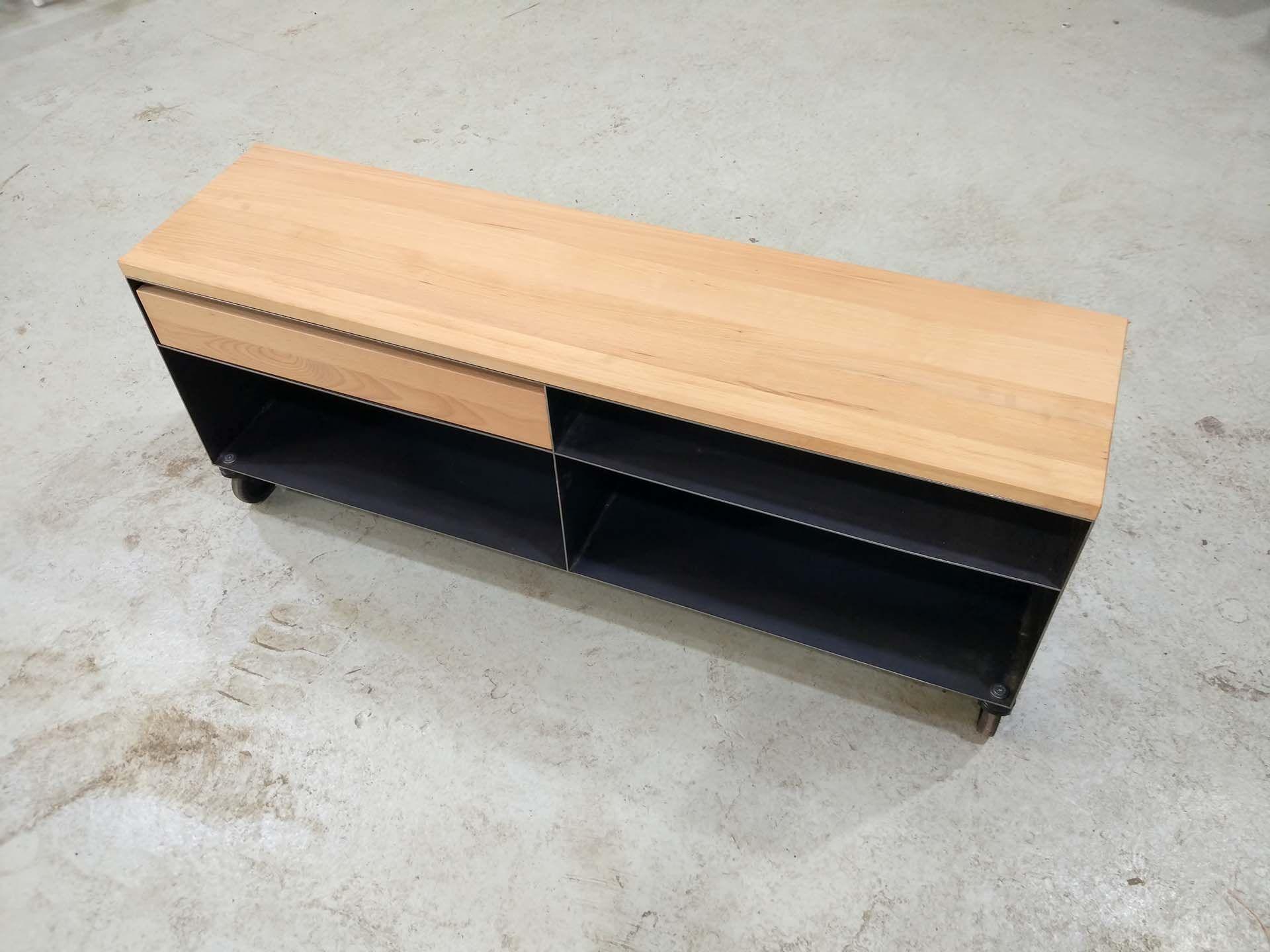 Stahlzart Lowboard Holz Metall Modern Schwarz Weiss Grau Online Kaufen Schubladen Design Lowboard Eiche Lowboard