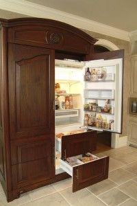 Armoire refrigerator. Holy cow. | kitchen kraze | Pinterest ...