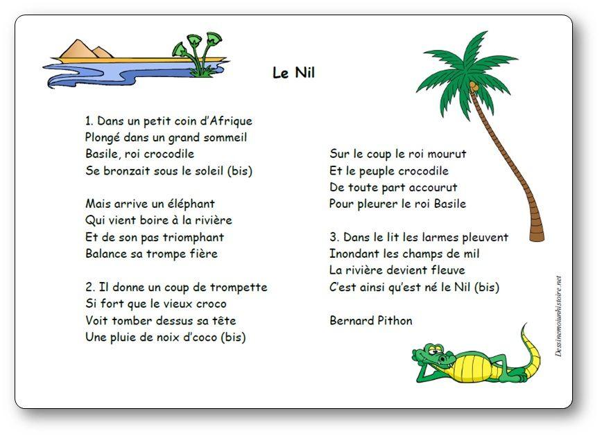 Chanson Le Nil de Bernard Pithon - Paroles illustrées de la chanson ...