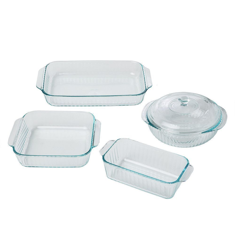 Pyrex 5 Pc Glass Bakeware Set With Images Glass Bakeware Set