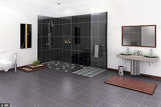 dimensions douche italienne salle de bain pinterest dimension douche italien et douches. Black Bedroom Furniture Sets. Home Design Ideas