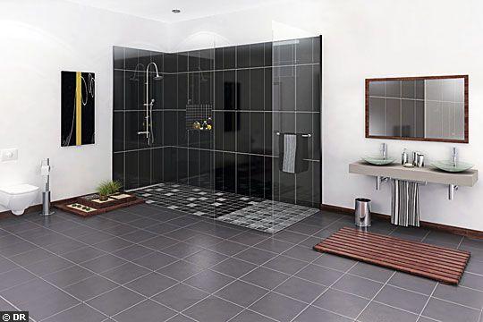 Dimensions douche italienne salle de bain pinterest - Dimension douche italienne ...