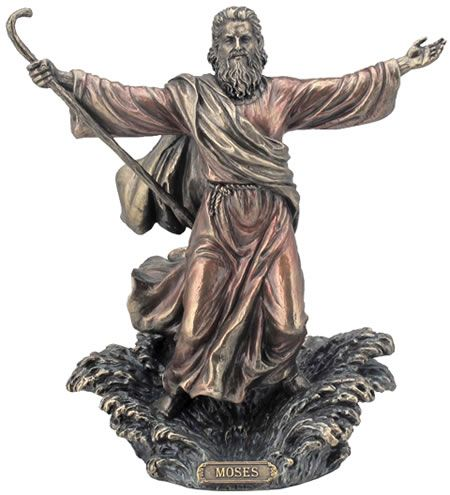 Moses Parting The Red Sea Religious Figurine Statue Sculpture Statuary Home Decor Decorations