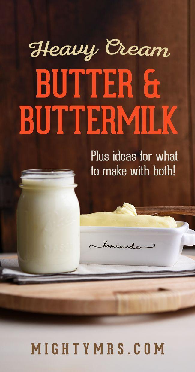 Homemade Butter And Buttermilk Using Heavy Cream Recipe