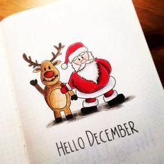 Idées de mise en page de Noël pour votre Bullet Journal ! #bonjourdecembre