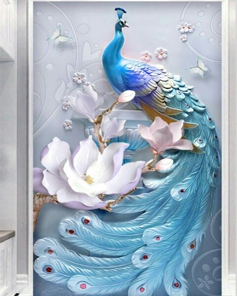 Best Pin By Gaby On Attic Bedroom Ideas Peacock Wallpaper 400 x 300