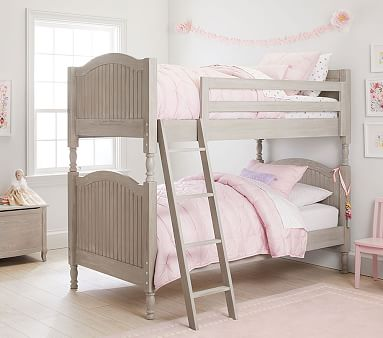 Catalina Twin Over Twin Bunk Bed Brushed Fog Twin Bunk Beds Bunk Beds With Stairs Kids Bunk Beds