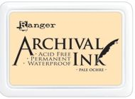Ranger Archival Ink Pad PALE OCHRE AIP30621 (good for no-line watercolouring technique)