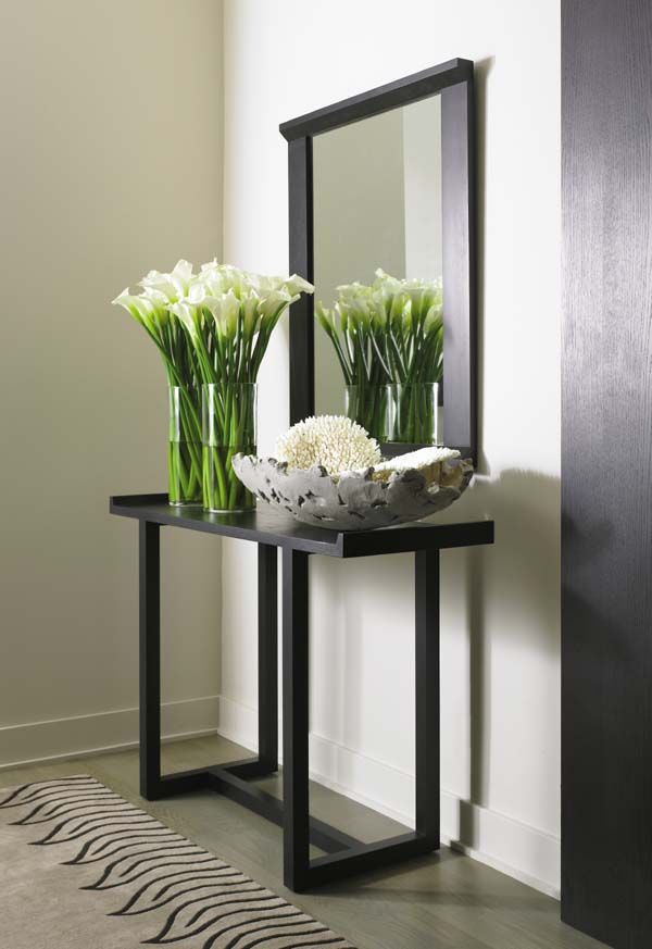 Foyer Table Vases : Bowl on an angle with vase behind it need to see if