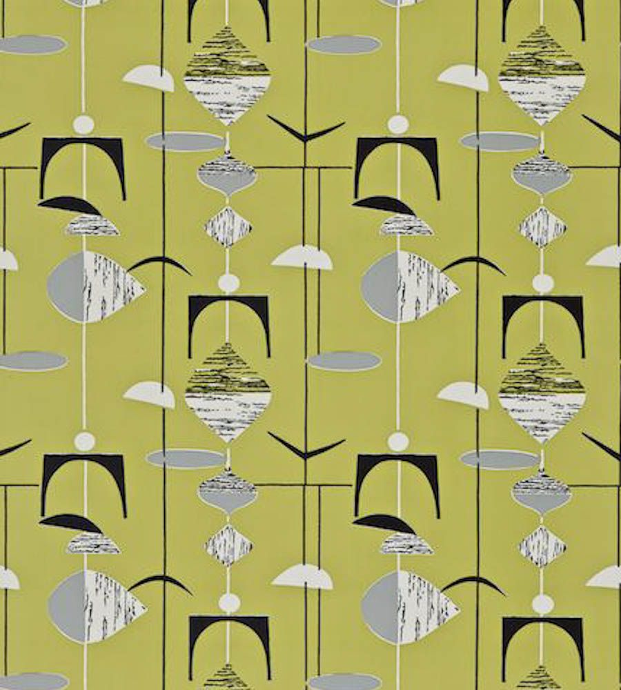 Shop robots 1950 s curtain fabric photo fifties curtains 1950s fifties - Displaying 17 Images For 1950s Wallpaper Patterns