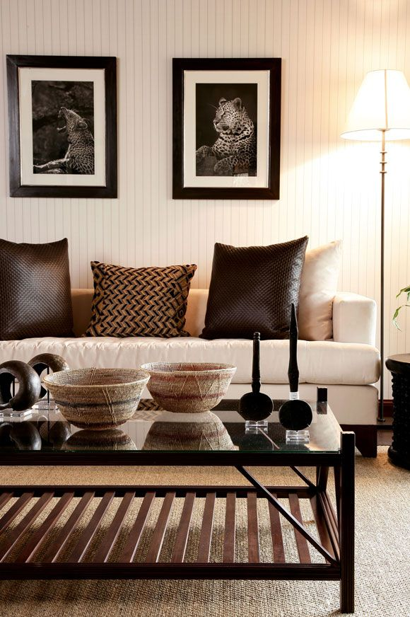 Sophisticated Bush Lodge Decoration…. | African Inspired ...