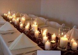 Centerpiece Candle Wedding Reception Flower